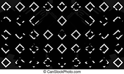 Black and White VJ Loop - 4K abstract black and white VJ ...