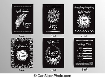 Black and white voucher