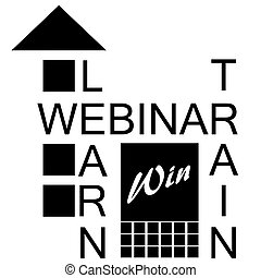 black and white webinar icon - B&W webinar icon showing that...