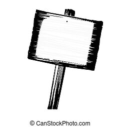 Black and white wood sign