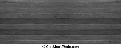 black and white wood texture semless banner background