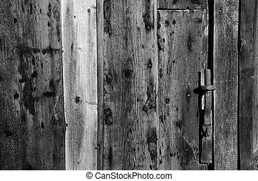black and white wooden old wall background