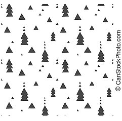 Black and white wrapping paper. Vector seamless geometric pattern with triangles.