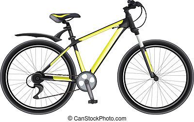Black And Yellow Bike vector