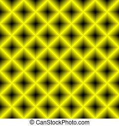 Black and yellow chessboard, abstract geometric background