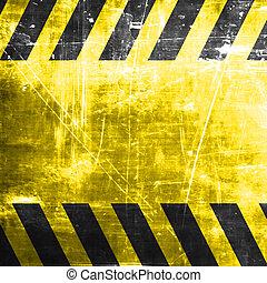 Black and yellow hazard stripes