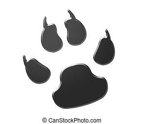 Black animal footprint