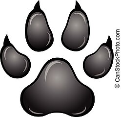 Black animal paw