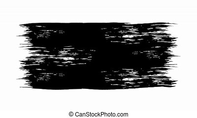 Black animated brush strokes. Video, motion graphics. -...