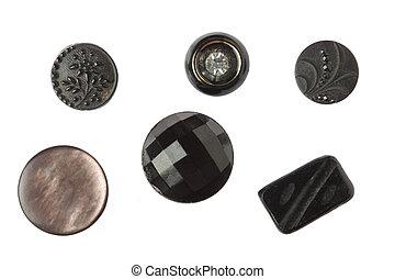 Black antique buttons