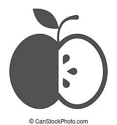 Black Apple Icon