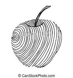 black apple label