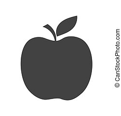 Black apple shape icon