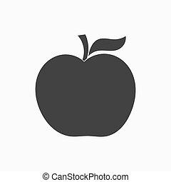Black Apple shape vector