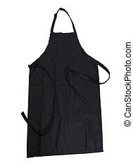 Black apron isolated