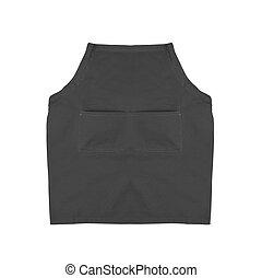 Black apron isolated on white background