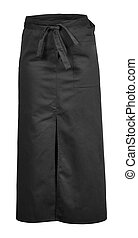 black apron with the pocket and outsets isolated on white