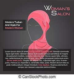 black , arabische , hijab, vrouw, rood