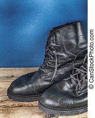 Black army boots