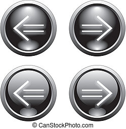 black arrow  button