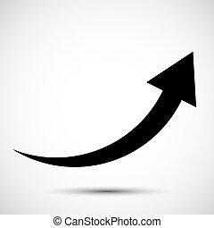 black arrow icon Symbol on White Background