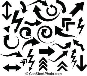 Black arrows.