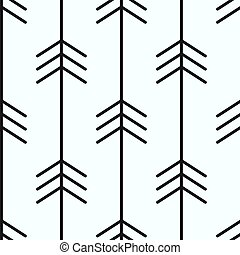 black arrows on white background seamless vector pattern illustration