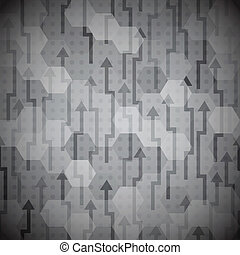 black arrows seamless pattern