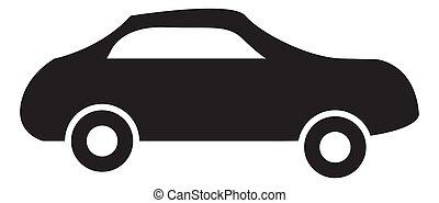 black auto icon set on white