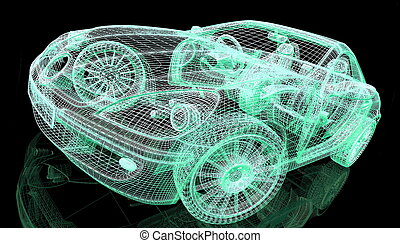 black , auto, model, achtergrond