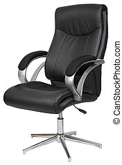black bőr, hivatal szék, elszigetelt