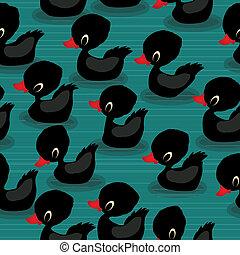 Black baby ducks