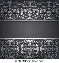 Black background baroque vector