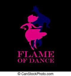 black background salsa poster. couple dancing latin dance vector illustration