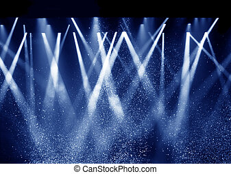 Black background, the spotlight. - Vector Stage Spotlight...