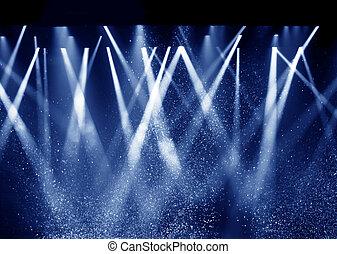 Black background, the spotlight. - Vector Stage Spotlight...