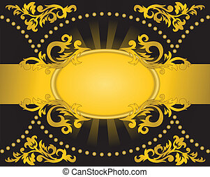 black background with a horizontal golden stripe