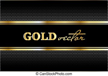 Black background with a pattern in gold style