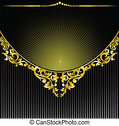 Black background with a semicircular ornament