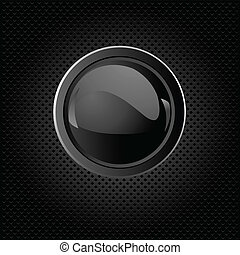 Black background with button - Black texture background with...
