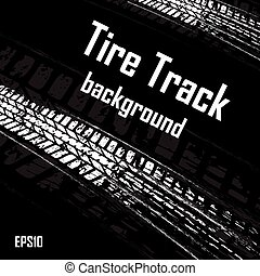 Black background with car track