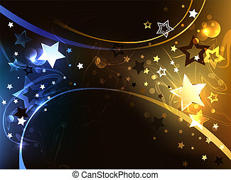 Black background with contrasting stars