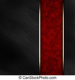 Black background with dark red texture stripe layout