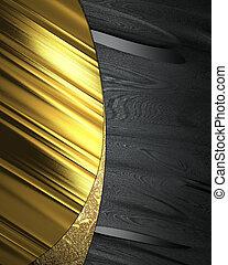 Black background with elegant gold plate.