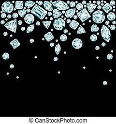 Black background with falling diamonds