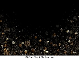 Black Background with Falling Snowflakes