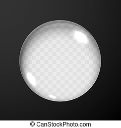 Black Background with Glass Lens Hole