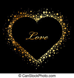 black background with glowing heart