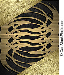 Black background with gold abstract pattern