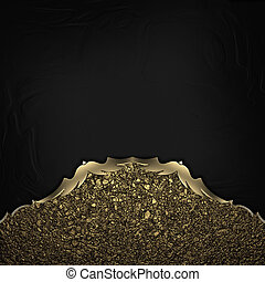 Black Background with gold dust edges with gold trim. ...